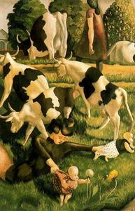 Stanley Spencer - Mucche a Cookham
