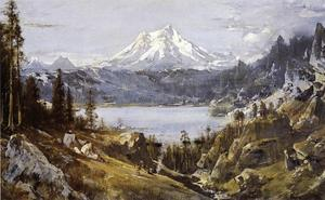 Thomas Hill - mount shasta da castello Lago