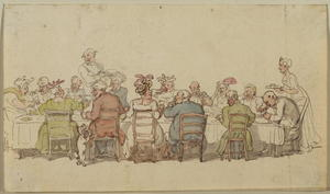 Thomas Rowlandson - cena party