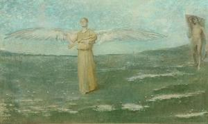 Thomas Wilmer Dewing - tobias` e il angelo