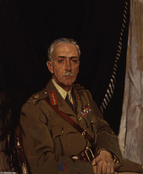4 ° Charles Sackville ovest Baron Sackville di William Newenham Montague Orpen (1878-1931, Ireland)