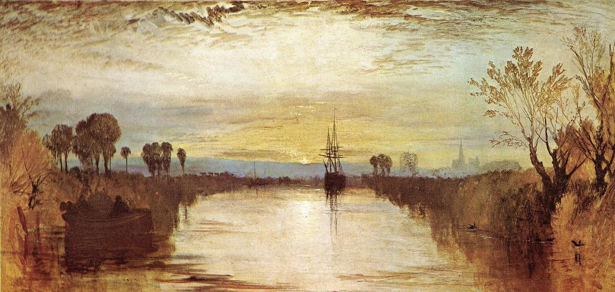 Chichester Canale, 1828 di William Turner (1775-1851, United Kingdom) | Riproduzioni Di Quadri Famosi | WahooArt.com