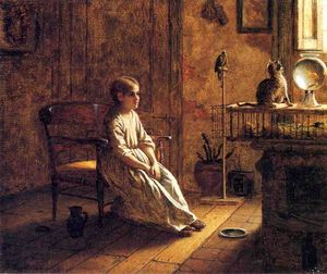 Jonathan Eastman Johnson - Menagerie di un bambino