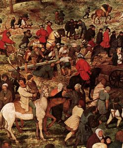 Pieter Bruegel The Elder - Cristo portacroce cross particolare
