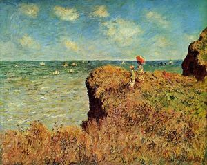 Claude Monet - il cliff walk , Pourville