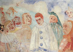 James Ensor - il `despair` di pierrot