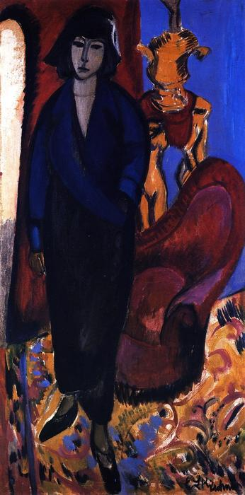 Die Russin, 1912 di Ernst Ludwig Kirchner (1880-1938, Germany) | WahooArt.com