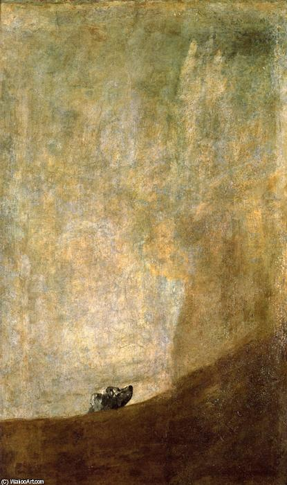 cane, pittura di Francisco De Goya (1746-1828, Spain)