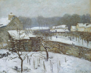 Alfred Sisley - Effetto di neve, Marly