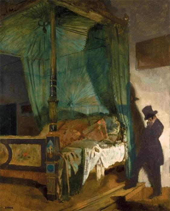 The Empty Bed di William Newenham Montague Orpen (1878-1931, Ireland)