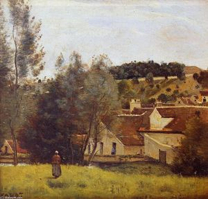 Jean Baptiste Camille Corot - Il Evaux Mill at Chiery, vicino a Chateau Thierry