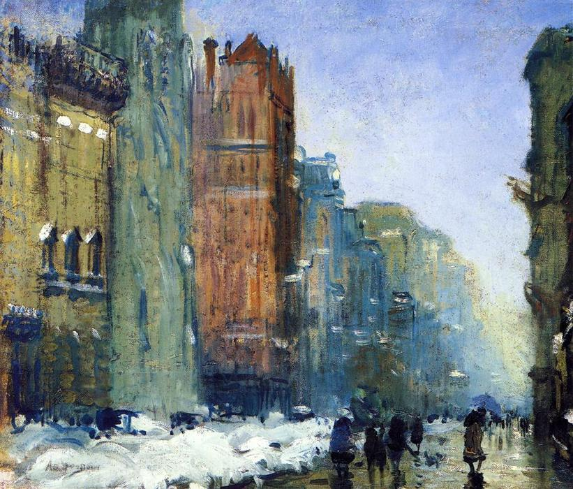 Fifth Avenue, New York di Arthur Clifton Goodwin (1864-1929, United States)