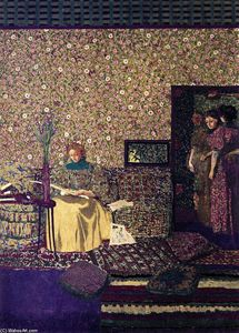 Jean Edouard Vuillard - Le figure in un interno: Intimacy