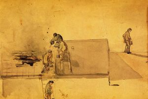 James Abbott Mcneill Whistler - A Fire a Pomfret