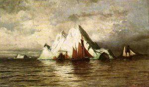 William Bradford - Pescherecci e Iceberg