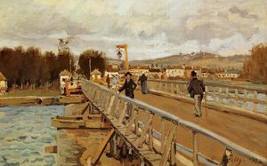 Alfred Sisley - Passerella a Argenteuil