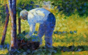 Georges Pierre Seurat - Il giardiniere