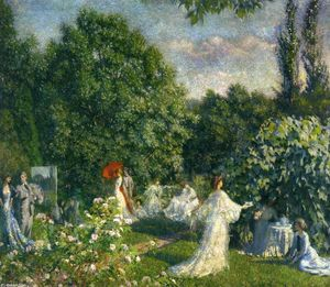 Philip Leslie Hale - giardino party
