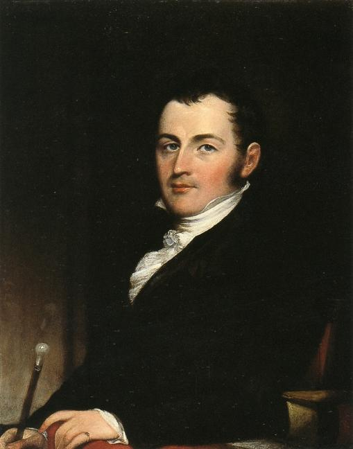 George Gallagher, New Yor,, olio su pannello di John Trumbull (1756-1843, United States)