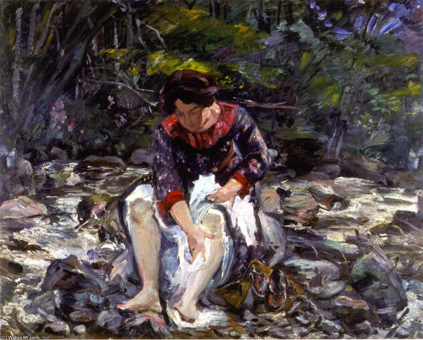 Girl in the Brook  (ordinare Belle Arti stampa fine art Lovis Corinth (Franz Heinrich Louis))