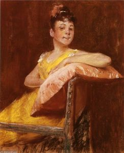 William Merritt Chase - A Girl in Yellow (noto anche come The Gown giallo)