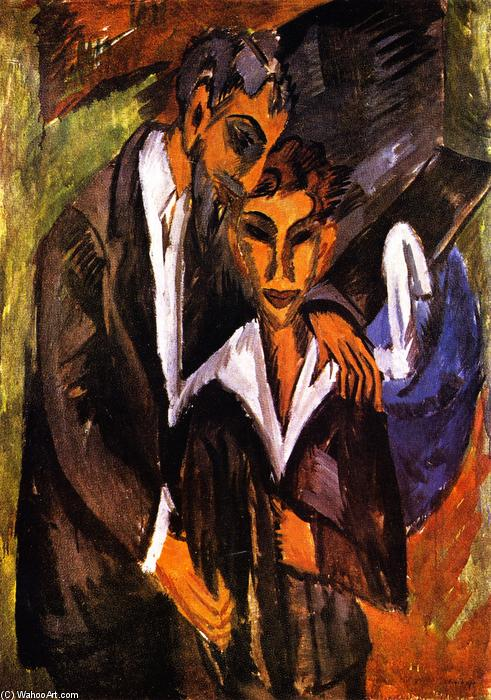 Graef e amico, 1914 di Ernst Ludwig Kirchner (1880-1938, Germany)