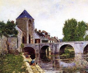 William Lamb Picknell - Giorno Grigio, Moret