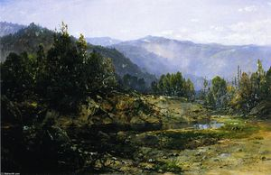 William Louis Sonntag - Un grigio Mattina - Ossipee, New Hampshire