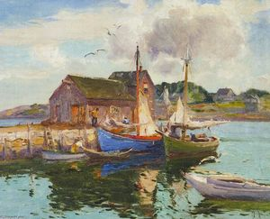 Mathias Joseph Alten - porto riflessione rockport , Massachusetts