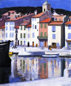 Francis Campbell Boileau Cadell - The Harbour, Cassis