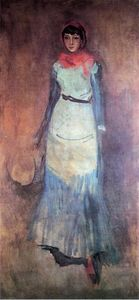 James Abbott Mcneill Whistler - Armonia in corallo e blu: Milly Finch
