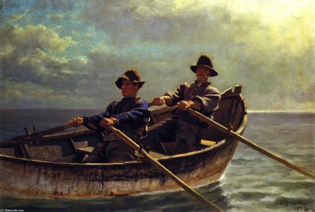 Heading Out, 1878 di John George Brown (1831-1913, United Kingdom) | WahooArt.com