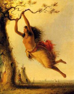 Alfred Jacob Miller - Indian Girl Swinging