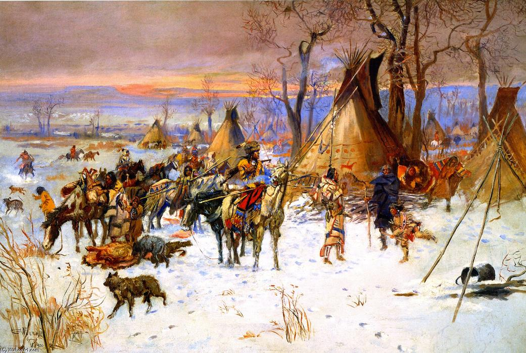 Pittura e scultura - Pagina 5 Charles-Marion-Russell-Indian-Hunters_-Return