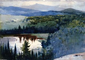 Winslow Homer - Indian Village, Adirondacks