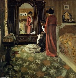 Felix Vallotton - interni Camera da letto  con  due  figure