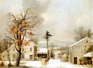 George Henry Durrie - Jones Inn, Inverno