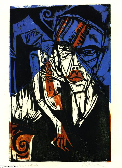 Kämpfe, pittura di Ernst Ludwig Kirchner (1880-1938, Germany)