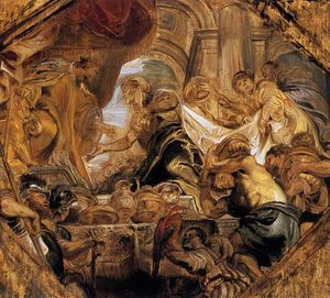 Peter Paul Rubens - re salomone e il regina di `sheba`