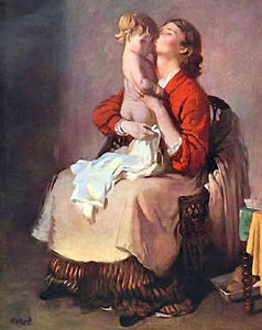 William Newenham Montague Orpen - lady orpen e il bambino