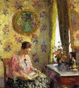 Julius Garibaldi Melchers - Reading Lady