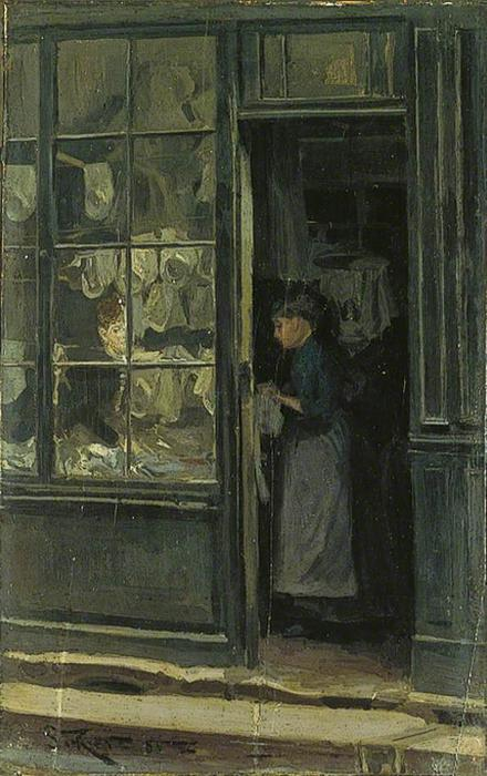 The laundry negozio 1885 di walter richard sickert 1860 for Riproduzioni design