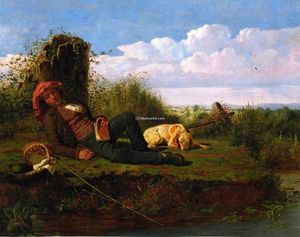 William Tylee Ranney - The Lazy Pescatore