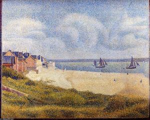 Georges Pierre Seurat - Le Crotoy, Downstream
