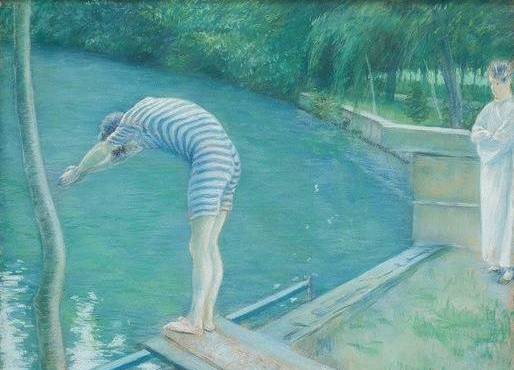 Le nageur, disegno di Gustave Caillebotte (1848-1894, France)