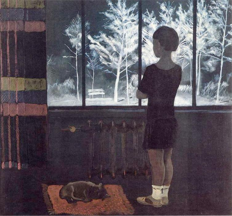 Il ragazza al finestra inverno guazzo di aleksandr - La ragazza alla finestra dali ...