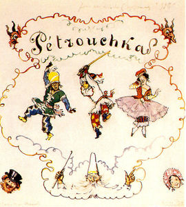 Alexandre Benois - Petrushka . Poster scetch