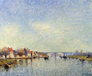 Alfred Sisley - Banche del Loing a Saint Mammes