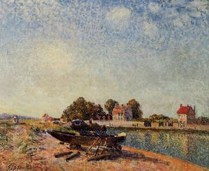 Alfred Sisley - Il Loing a Saint Mammes
