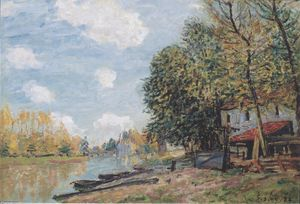 Alfred Sisley - Le rive del Loing Moret